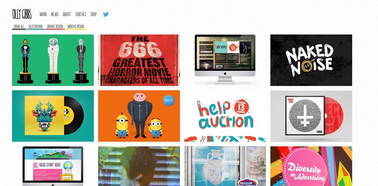 Graphic Designer Portfolio Examples Senior