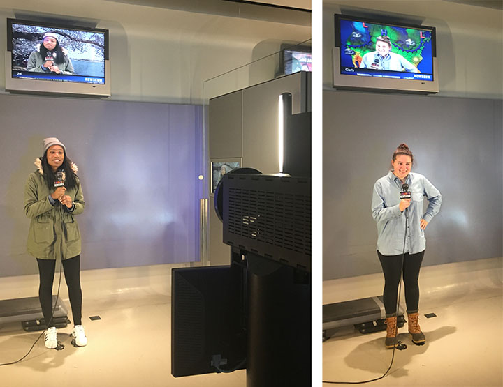 broadcast writing and delivery class visits newseum department news rh commons marymount edu