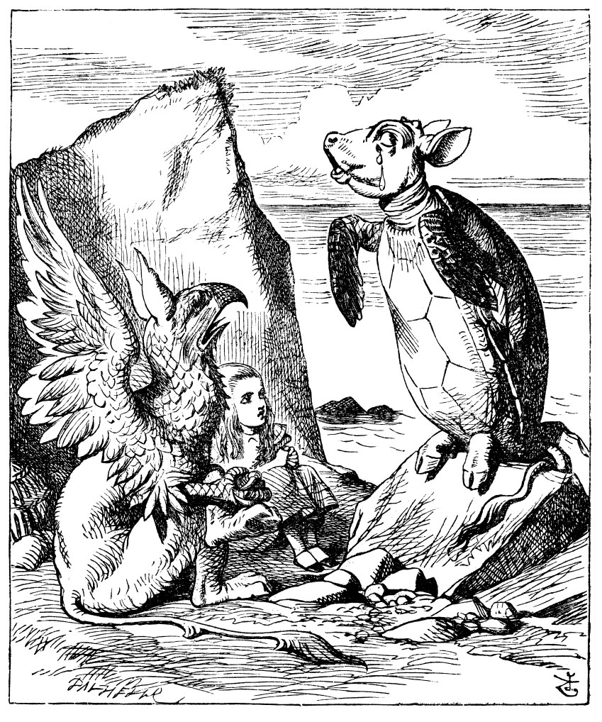 "John Tenniel`s original (1865) illustration for Lewis Carroll`s ""Alice ..."