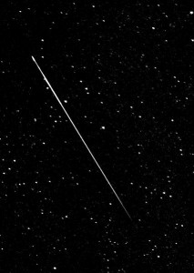 Perseid Meteor, by Nick Ares, via Wikimedia Commons