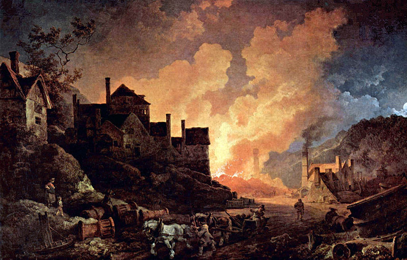 Coalbrookdale by Night by Philipp Loutherbourg, via Wikipedia