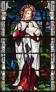 Jesus with a lamb in his arms from Church of St. Brendan the Navigator, Bantry, County Cork, Ireland