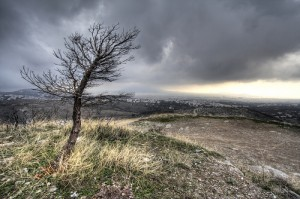 A lonely hill. Image posted by  almondjoycie on the site This Limerick Called Life