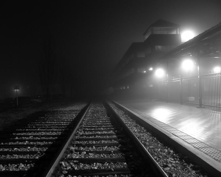 """""""Train Tracks"""" By: fauxto_digit, Unclomedia Commons."""