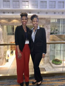 English and Criminal Justice Majors Kembry (left) and Naiya (right) at the VFIC Women's Leadership Conference