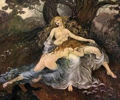 """Arthur Rackham's illustration for Christina Rossetti's """"Goblin Market"""" Images taken from Google"""