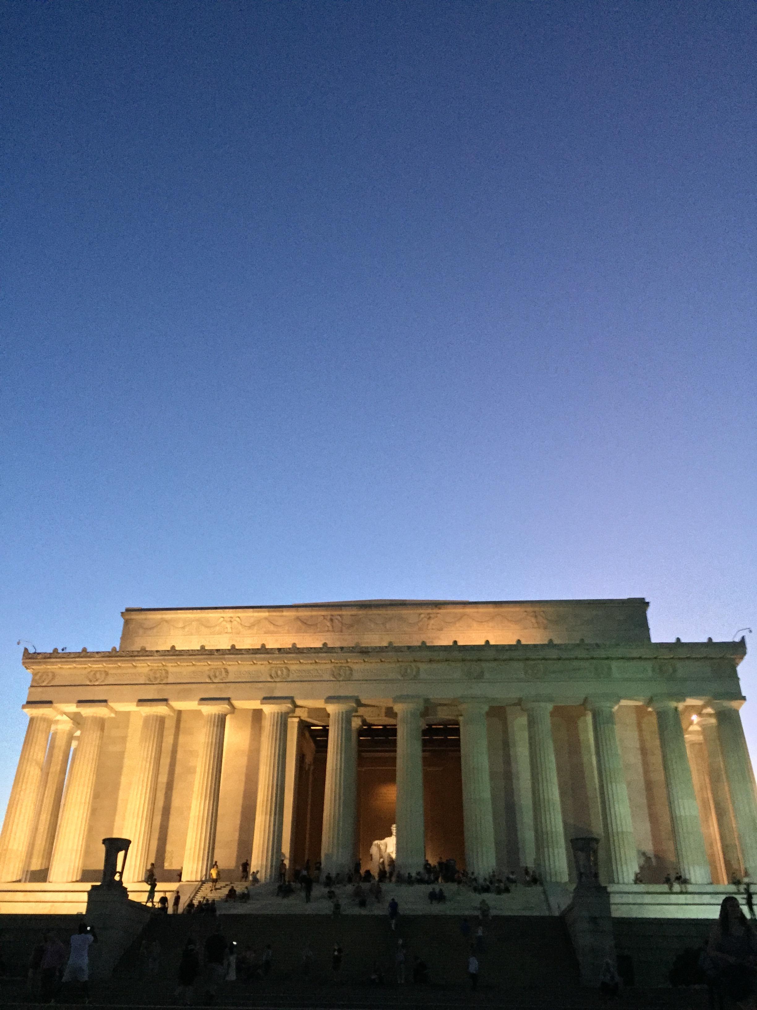 Lincoln Memorial - unusual camera angle