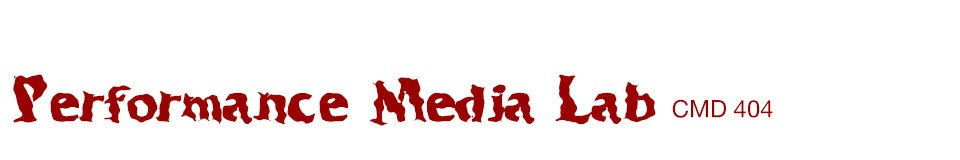 Performance Media Lab SP17