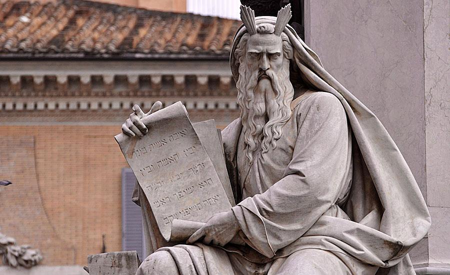 Moses with Ten Commandments – Rome June 2013